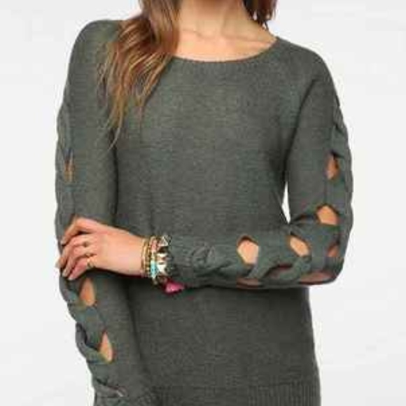 Anthropologie Sweaters - Braided Arm Sweater